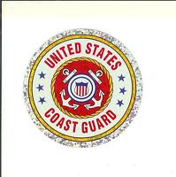 """United States Coast Guard 3"""" Round Seal Sticker Decal Armed Forces Military"""