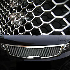 """Aluminum Wire Silver Honeycomb Hex Mesh Grille Diy Kit 19""""x35"""" For All Vehicle"""