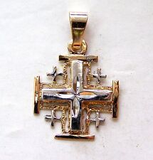 Jerusalem Templar Cross pilgrim Pendant Red Gold 585 solid #a004