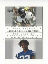 2000 UD Legends Reflections in Time #R7 Gale Sayers/Edgerrin James Colts Bears