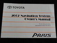 2002 Toyota Prius NAVIGATION Owners Manual