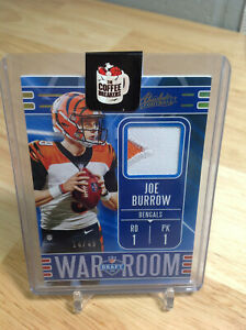 2020 ABSOLUTE JOE BURROW PATCH RELIC #14/49 BENGALS