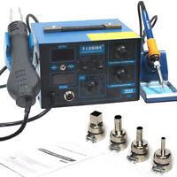 Saike 952D 2 in 1 soldering station rework Hot Air Gun 760W Solder 220V/110V
