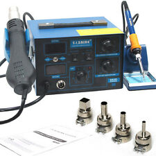 Saike 952D 2 in 1 soldering station rework Hot Air Gun 760W Solder 220V