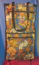 TAPESTRY CAT AND BEAR THEMED SHOPPING BAG/TOTE ON WHEELS NWT JADE