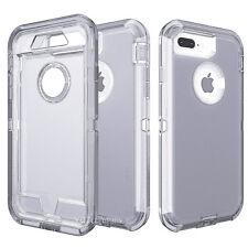 For iPhone 8 Plus Shockproof Hybrid Clip Belt Holster Hard Protective Case Cover