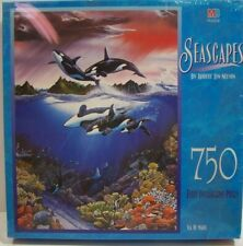 Vintage Jigsaw Puzzle Seascape 750 Fully Interlocking Pcs 18 x 24