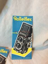 ROLLEI ROLLEIFLEX 1957 Sales  Brochure 3.5 & 2.8E New Old Stock