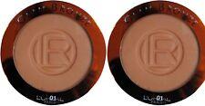 2 x L'oreal Glam Bronze Bronzing Powder Compact, 01, Blone Sun Brand New