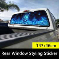 147x46cm Truck Rear Window Styling Cool Sticker Flaming Skull Tint Graphic Decal