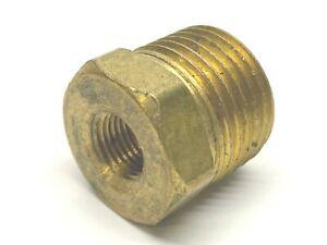 """Brass Hex Threaded Reducer 1/2"""" MNPT 3/8"""" Female NPT"""
