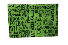 Black Green Scary Pumpkin Halloween Cat Vinyl Tablecloth Table Cloth 52 x 70 NEW