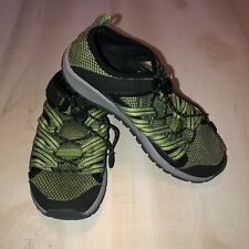 Chaco Outcross Boy Shoe Size 2 Green Black Gray J180049