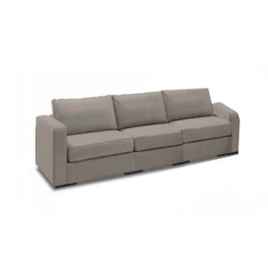Sactional Seat Cover - Taupe Padded Velvet - (Cover Only)