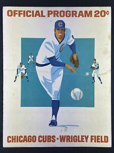 1975 Program New York Mets @ Chicago Cubs (See Description)