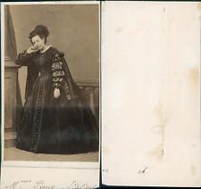 Rosina Penco, soprano Vintage CDV albumen carte de visit.Rosina Penco, née à N