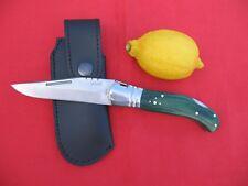 COUTEAU PLIANT LAGUIOLE CHASSE + ÉTUI STAMINA VERT   FRENCH KNIFE + BAG