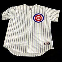 Vintage Chicago Cubs Jersey XL Stitched Logo White Striped Made In USA Baseball