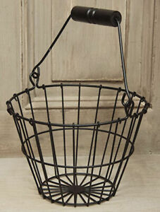 Black Wire Egg Basket country farmhouse decor chicken duck rustic