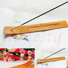 10 pcs Natural Plain Wood Wooden Incense Stick Ash Catcher Burner Holder