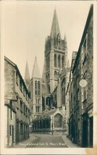 Truro; cathedral; from St mary's st real photo; Frank gratton;  ARPS mulllion