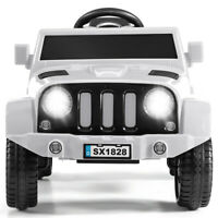 6V Electric Kids Ride Play Truck 2.4GHz Remote Control w/Headlights MP3 White