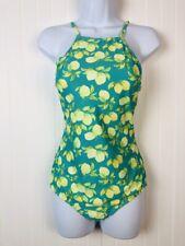 Women's One Piece Bathing Suit Swim Suit - Green - Lemon -Large