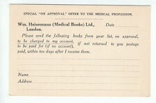 Heinemann Medical Books 20 Bedford Street London WC2 Approval List Order Old PC