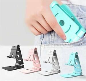 1Pc Universal Portable Adjustable Folding Mobile Phone Holder Stand Desk Tablet