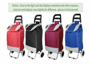 Shopping Trolley Luggage 2 Wheels Folding Basket Oxford Fabrics Bag