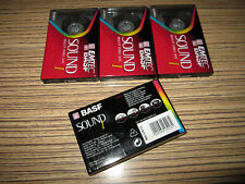 4 x BASF  Sound Ferric   Kassetten in Folie OVP 60  min.
