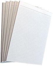 10x Notizblock kariert -karierte Blocks DIN A6-80g/m² Offset grau (22212)