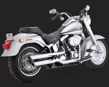 Vance & Hines Twin Slash Slip-Ons Chrom, f. Harley - Davidson Fatboy 07 - 16