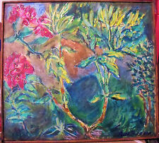 """""""GROWTH"""" by Ruth Freeman  ACRYLIC ON STRETCHED CANVAS (FRAME) 18 1/2"""" X 20 1/2"""""""