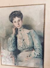 ANTIQUE WATERCOLOR PAINTING BY A. ELOY VINCENT (1868-1945)