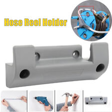 PVC Grey Hose Reel Holder Wall Mounted Garden Hose Hanger Pipe Holder + Screws