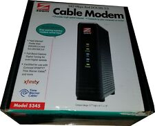 Zoom Cable Modem, High-Speed 343 Mbps DOCSIS 3.0, 5345, Black