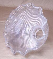 "Antique Holophane Glass Shade Intensive Prismatic I5 Vtg Lamp 2 1/4"" Fitter #R90"