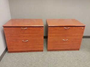 Two 2-Drawer Lateral Files with locks
