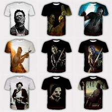 New Fashion Women/Men Leatherface 3D Print Casual Short Sleeve T-shirt S84