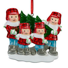 Family and Tree Ornament, Family of 4