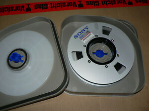 "Sony V1-K High Band Master Tape 1"" 18 min, Aluminum Reel and Hardcase NEU"