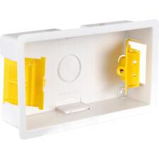 35mm Double 2 Gang Dry Lining Flush Pattress Back Box Plasterboard Cavity Wall