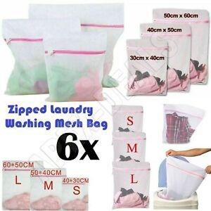 6pcs Zipped Laundry Washing Mesh Net Bra Sox Underwear Washing Machine Wash Bags