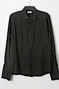 CERRUTI 1881 SMART BLACK SHIRT LONG SLEEVE SIZE 16 / 41 NEW RRP £150