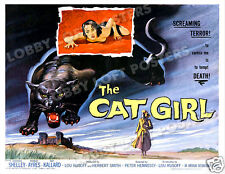 THE CAT GIRL LOBBY CARD POSTER HS 1957 BARBARA SHELLEY ROBERT AYRES KAY KALLARD