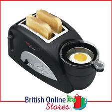 Tefal TT550015 Toast N' Egg 2 Slice Toaster Poached Boiled Cooker Black