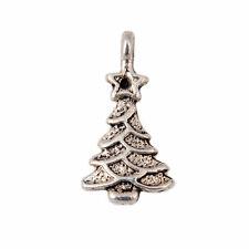 20Pcs Tibeten Silver Christmas Tree Charms Pendants Jewelery Findings 10x20mm
