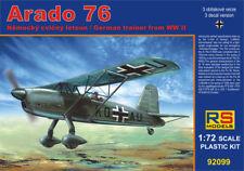 RS Model 1/72 Arado 76 WWII German Trainer Model Kit 92099