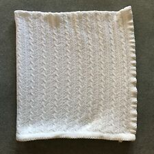 Amy Coe Target Limited White Cable Knit Chenille Rope Lovey Baby Blanket